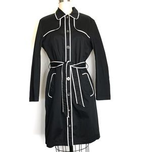 George by Mark Eisen M black trench coat